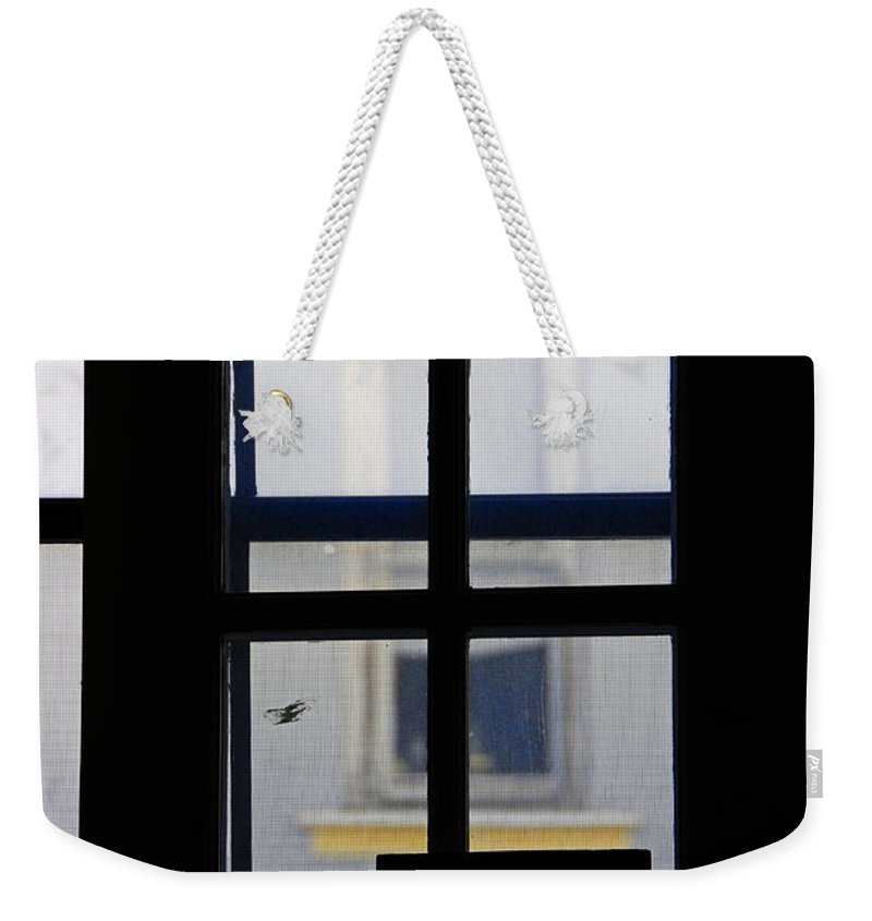 Architecture Weekender Tote Bag featuring the photograph Rear Window 2 by Skip Hunt