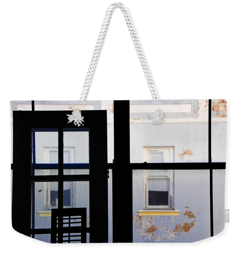 Architecture Weekender Tote Bag featuring the photograph Rear Window 3 by Skip Hunt