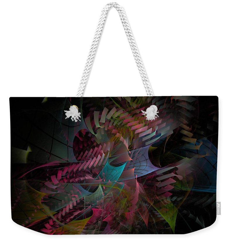 Abstract Weekender Tote Bag featuring the digital art Reason And Virtue - Fractal Art by NirvanaBlues