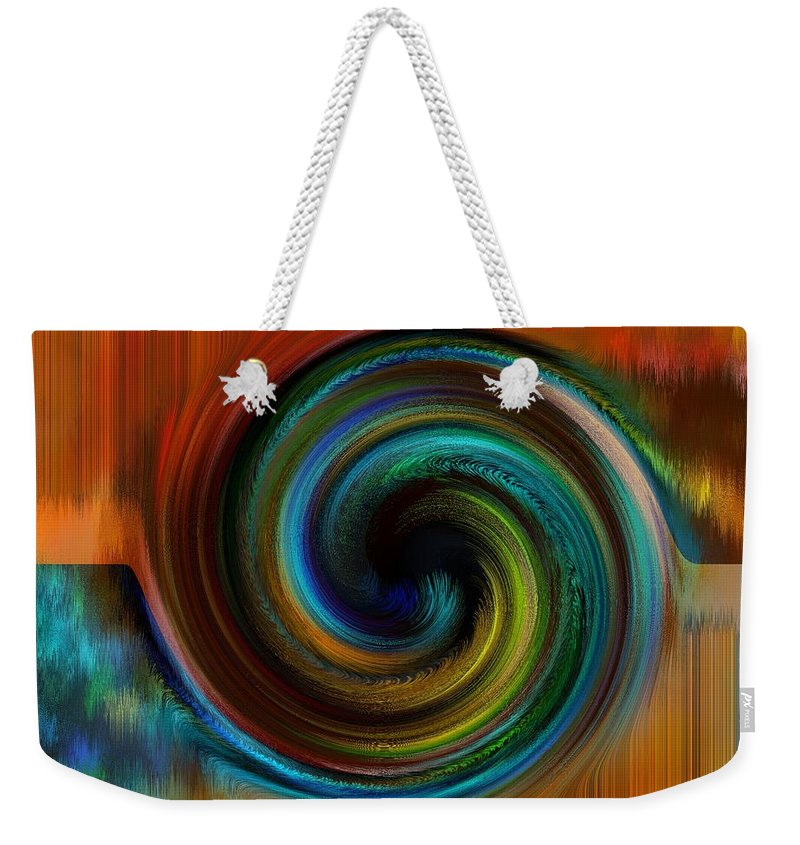 Abstract Weekender Tote Bag featuring the digital art Reasoning by Gwyn Newcombe