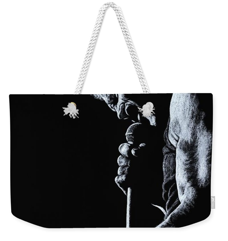 Musician Weekender Tote Bag featuring the pastel Rebel Yell by Richard Young