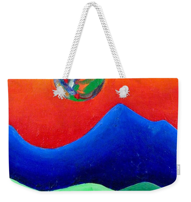 Landscape Weekender Tote Bag featuring the painting Rebirth by Rollin Kocsis