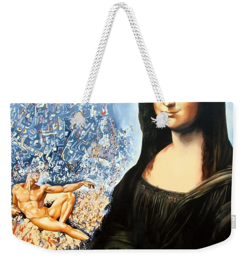 Surrealism Weekender Tote Bag featuring the painting Reconstruction Of High Renaissance by Darwin Leon