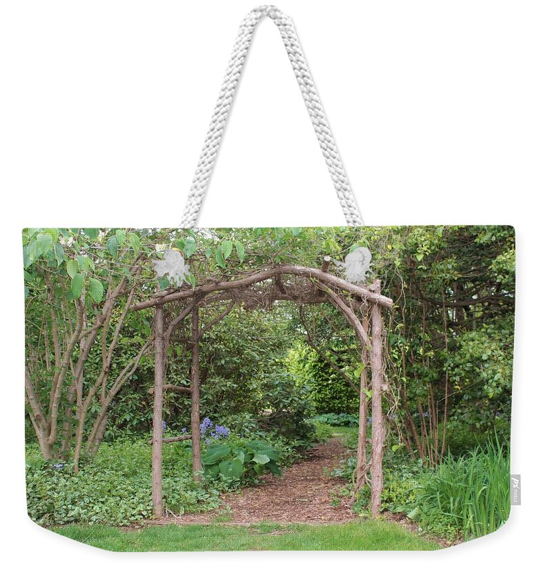 Branches Weekender Tote Bag featuring the photograph Recycled Arbor by Karen Silvestri