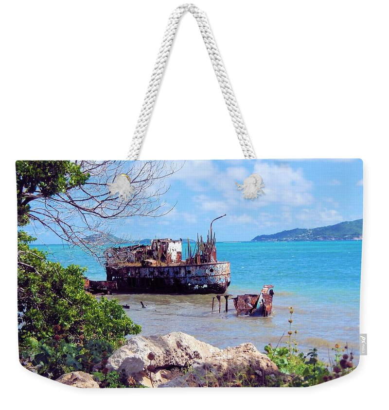 Grenada Weekender Tote Bag featuring the photograph Recycled In Grenada by Pamela Stroberg
