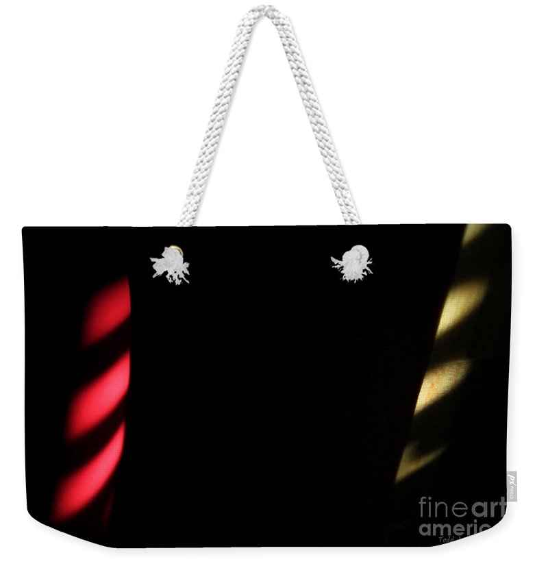 Abstract Weekender Tote Bag featuring the digital art Red And Yellow by Todd Blanchard