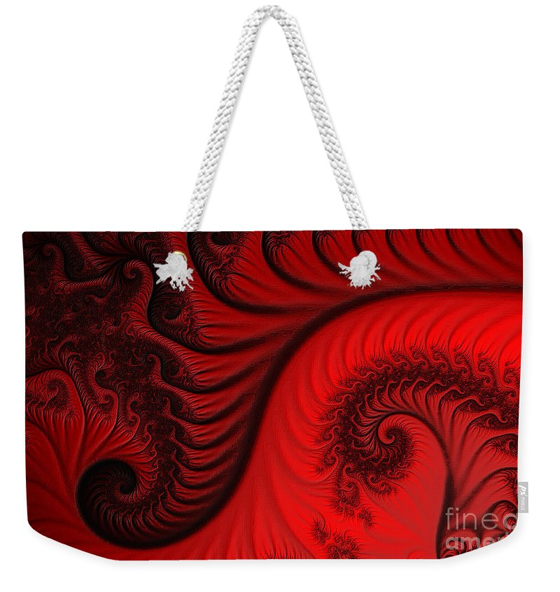Clay Weekender Tote Bag featuring the digital art Red Ants by Clayton Bruster