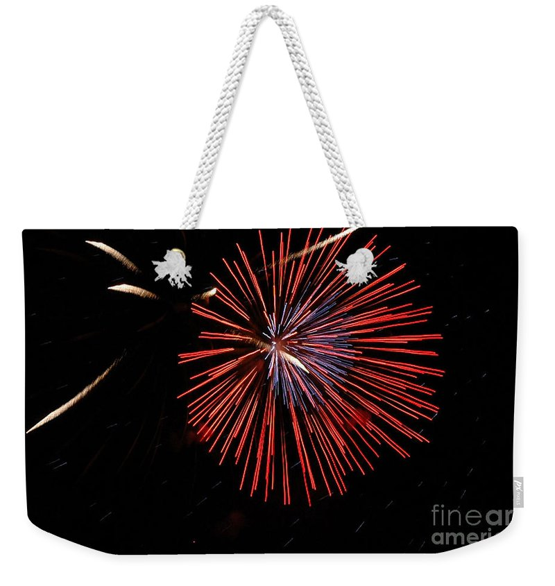 California Scenes Weekender Tote Bag featuring the photograph Red Burst by Norman Andrus
