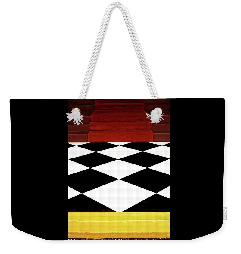 Stairs Weekender Tote Bag featuring the photograph Red Carpet Treatment by Mitch Spence