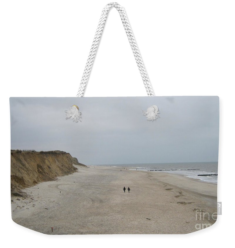 Red Cliff Weekender Tote Bag featuring the photograph Red Cliff Kampen Sylt by Heidi Sieber