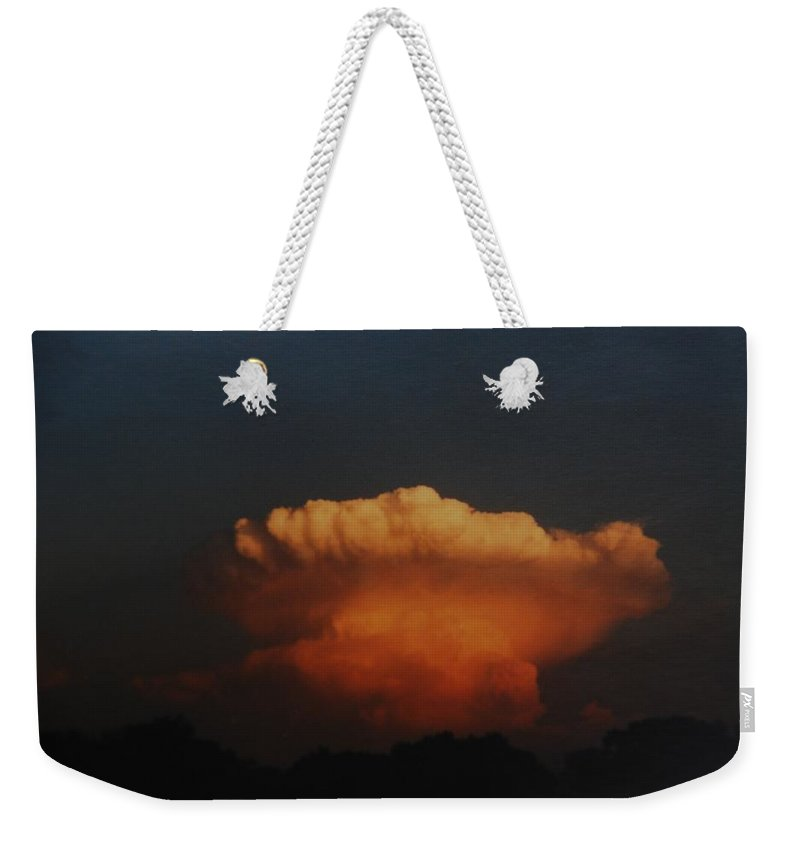 Clouds Weekender Tote Bag featuring the photograph Red Cloud by Rob Hans
