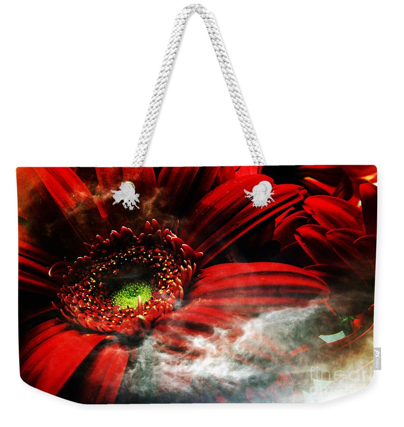 Clay Weekender Tote Bag featuring the photograph Red Clouds by Clayton Bruster