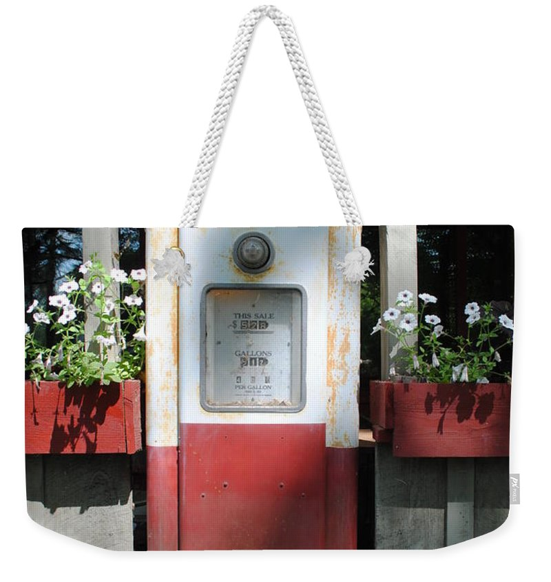 Standard Oil Weekender Tote Bag featuring the photograph Red Crown by Jost Houk