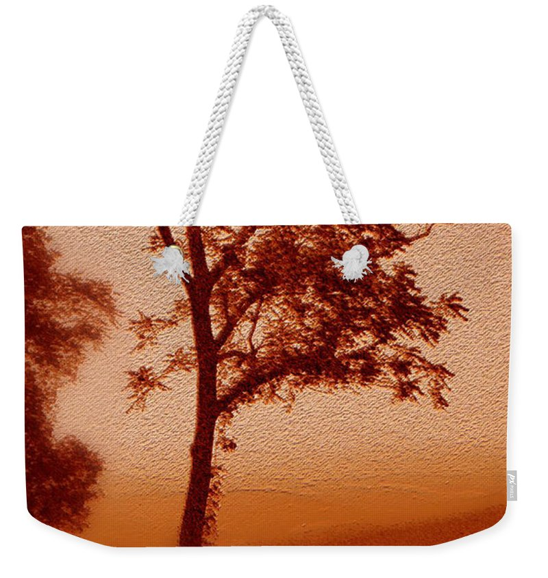 Red Dawn Weekender Tote Bag featuring the photograph Red Dawn by Linda Sannuti