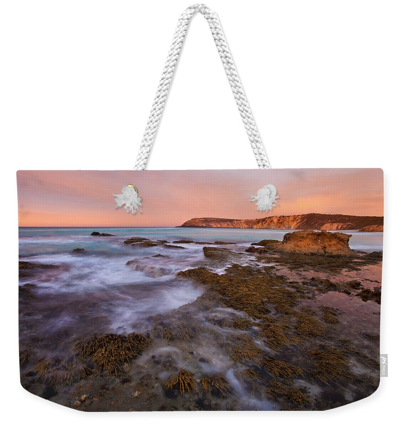 Sunrise Weekender Tote Bag featuring the photograph Red Dawning by Mike Dawson