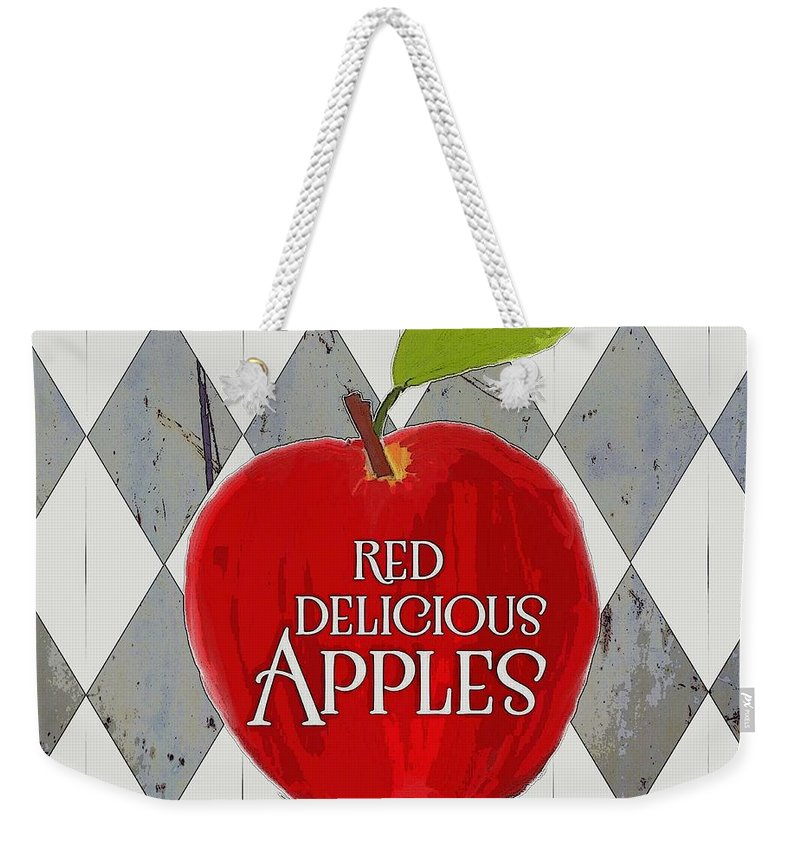 Apples Weekender Tote Bag featuring the photograph Red Delicious Apples by Priscilla Wolfe