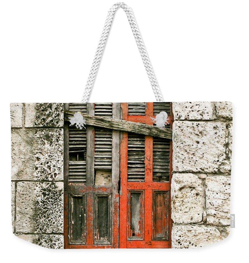 Door Weekender Tote Bag featuring the photograph Red Door by Douglas Barnett