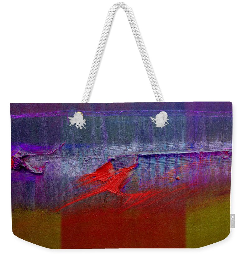 Landscape Weekender Tote Bag featuring the painting Red Dragon Autumn by Charles Stuart