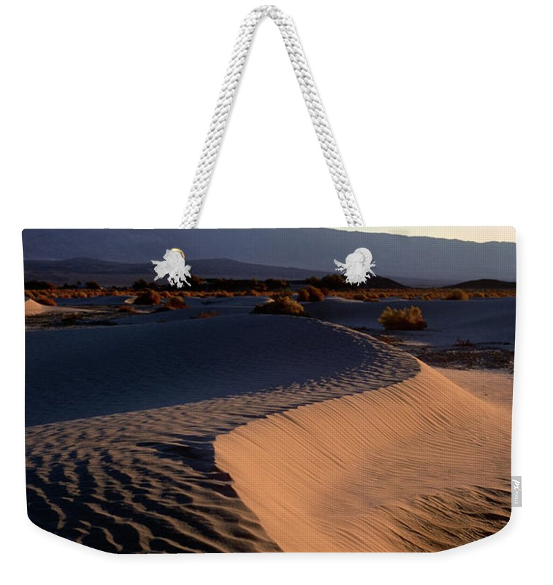 Sand Weekender Tote Bag featuring the photograph Red Dunes by Jim And Emily Bush