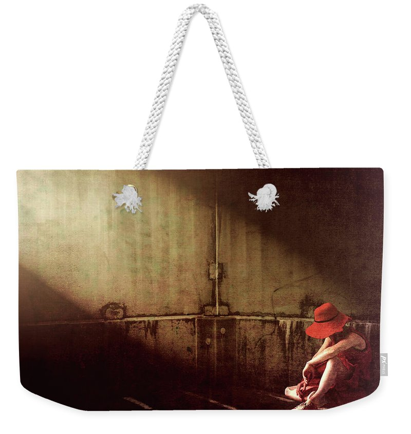 Dreamscape Weekender Tote Bag featuring the photograph Red Hat by Bob Orsillo