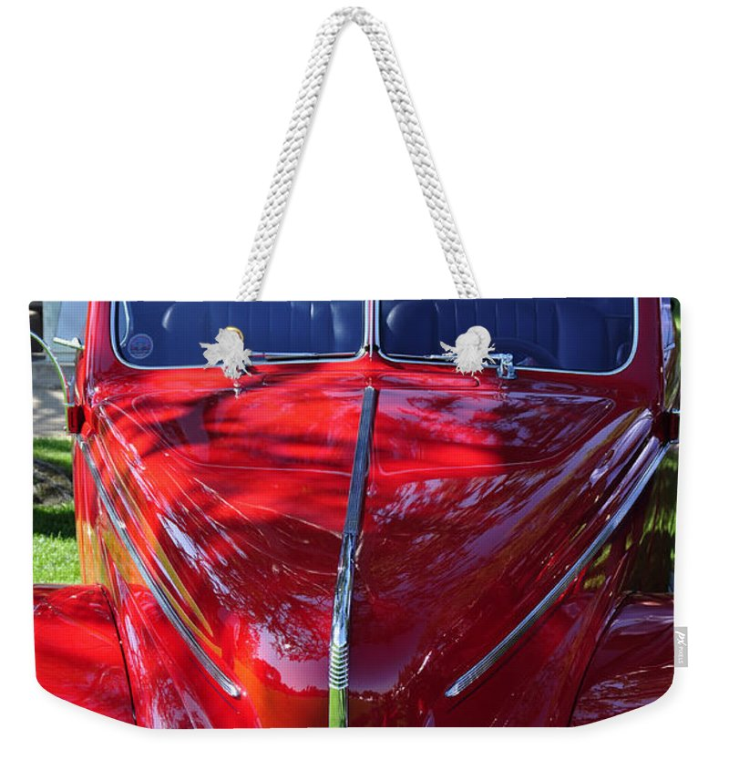 Clay Weekender Tote Bag featuring the photograph Red Hot Rod by Clayton Bruster