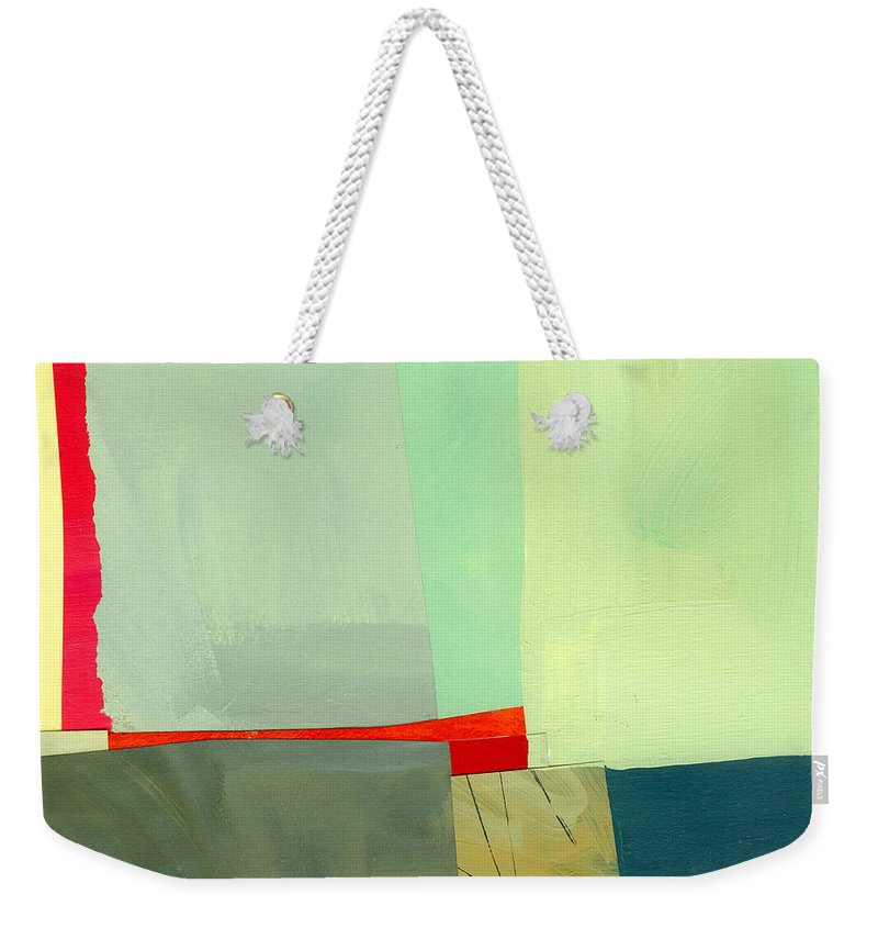 Abstract Art Weekender Tote Bag featuring the painting Red by Jane Davies