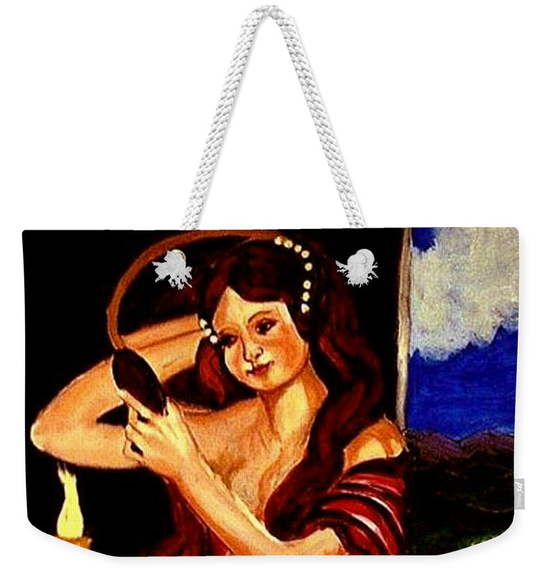 Renaissance Weekender Tote Bag featuring the painting Red Letter Day by Rusty Gladdish