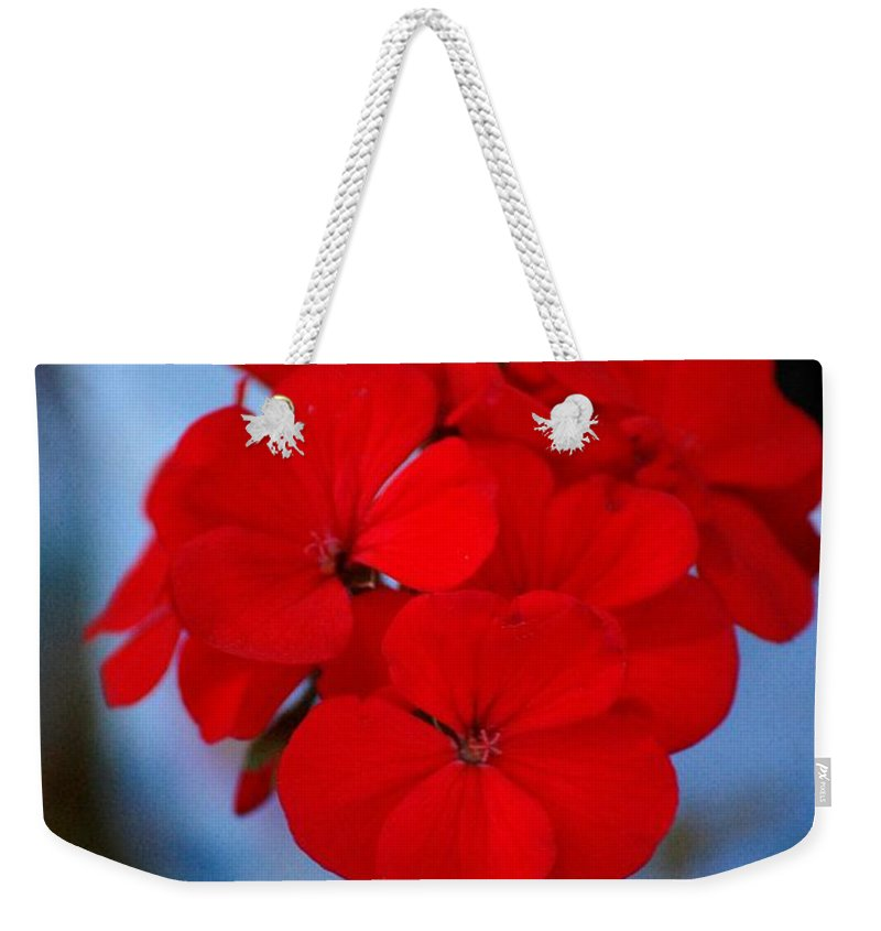Weekender Tote Bag featuring the photograph Red Menace by David Lane