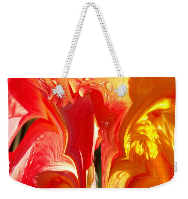 Flowers Weekender Tote Bag featuring the photograph Red N Yellow Flowers 5 by Tim Allen