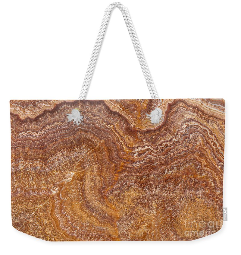 Granite Weekender Tote Bag featuring the photograph Red Onyx by Anthony Totah