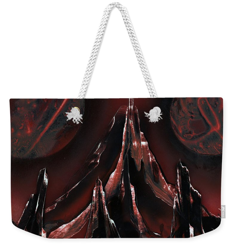 Red Oxide Weekender Tote Bag featuring the painting Red Oxide by Jason Girard