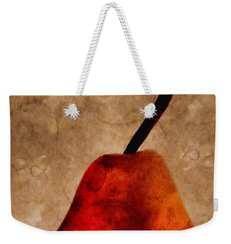 Pear Weekender Tote Bag featuring the photograph Red Pear IIi by Carol Leigh