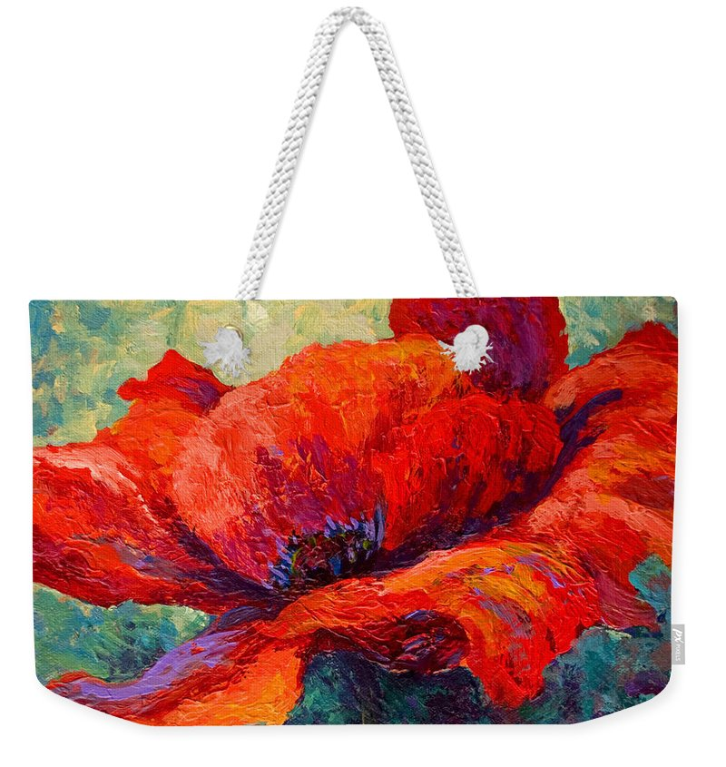 Poppies Weekender Tote Bag featuring the painting Red Poppy IIi by Marion Rose