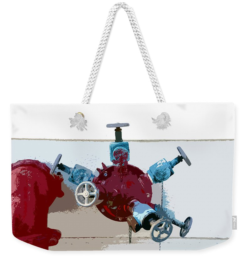 Art Weekender Tote Bag featuring the photograph Red Pump by David Lee Thompson