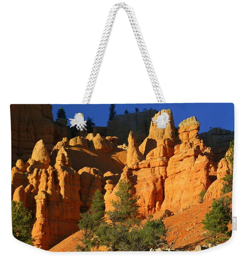 Red Rock Canyon Weekender Tote Bag featuring the photograph Red Rock Canoyon At Sunset by Marty Koch