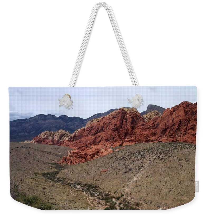 Red Rock Canyon Weekender Tote Bag featuring the photograph Red Rock Canyon 1 by Anita Burgermeister
