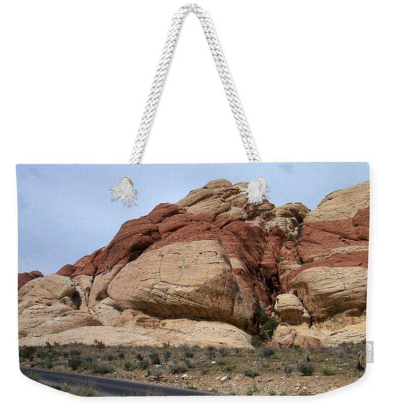 Red Rock Canyon Weekender Tote Bag featuring the photograph Red Rock Canyon 2 by Anita Burgermeister
