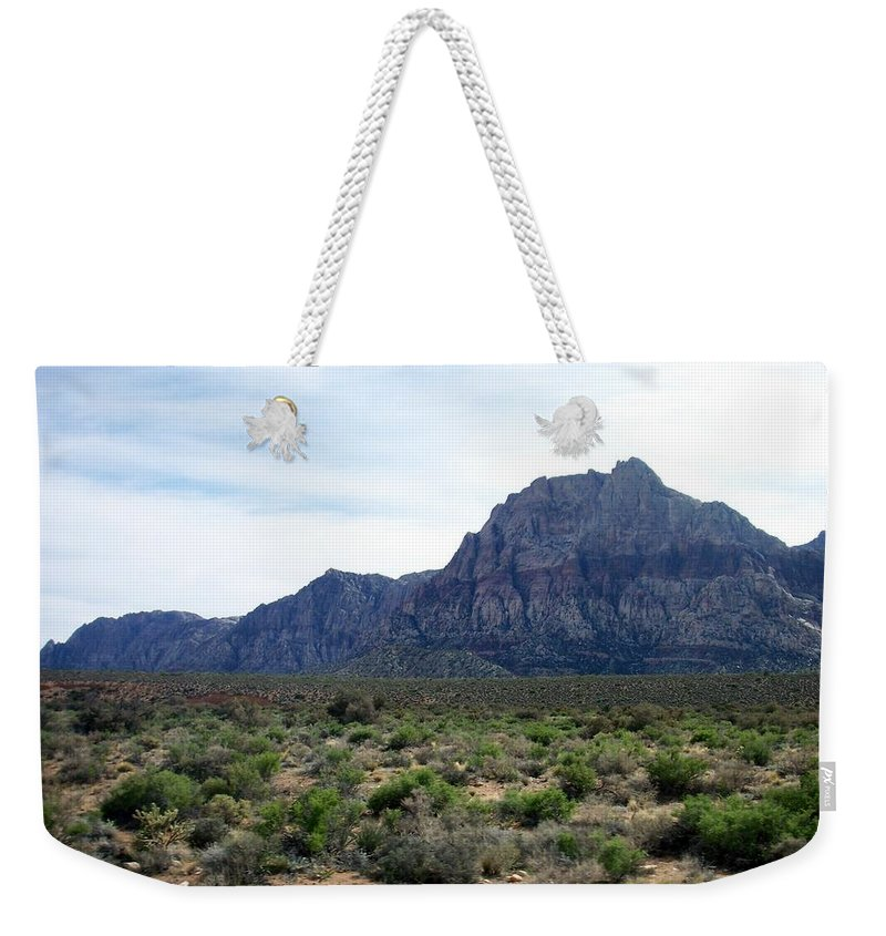 Red Rock Canyon Weekender Tote Bag featuring the photograph Red Rock Canyon 3 by Anita Burgermeister