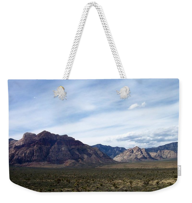 Red Rock Canyon Weekender Tote Bag featuring the photograph Red Rock Canyon 4 by Anita Burgermeister