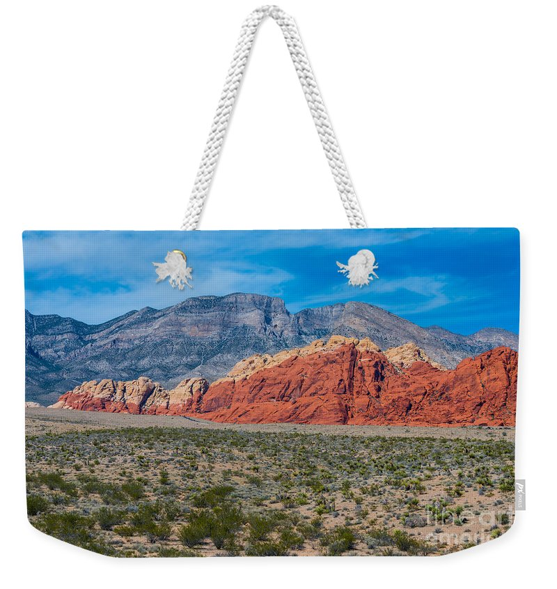 Red Rock Canyon Weekender Tote Bag featuring the photograph Red Rock Canyon by Anthony Sacco