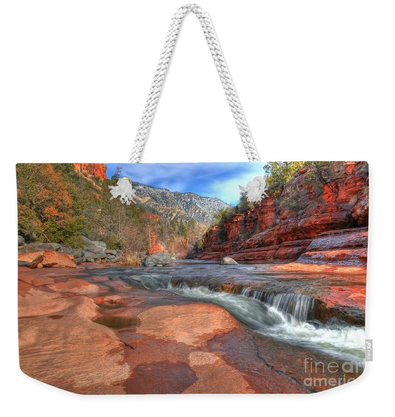 Red Rock Sedona Weekender Tote Bag featuring the photograph Red Rock Sedona by Kelly Wade