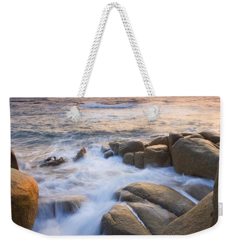 Sunrise Weekender Tote Bag featuring the photograph Red Sky At Morning by Mike Dawson