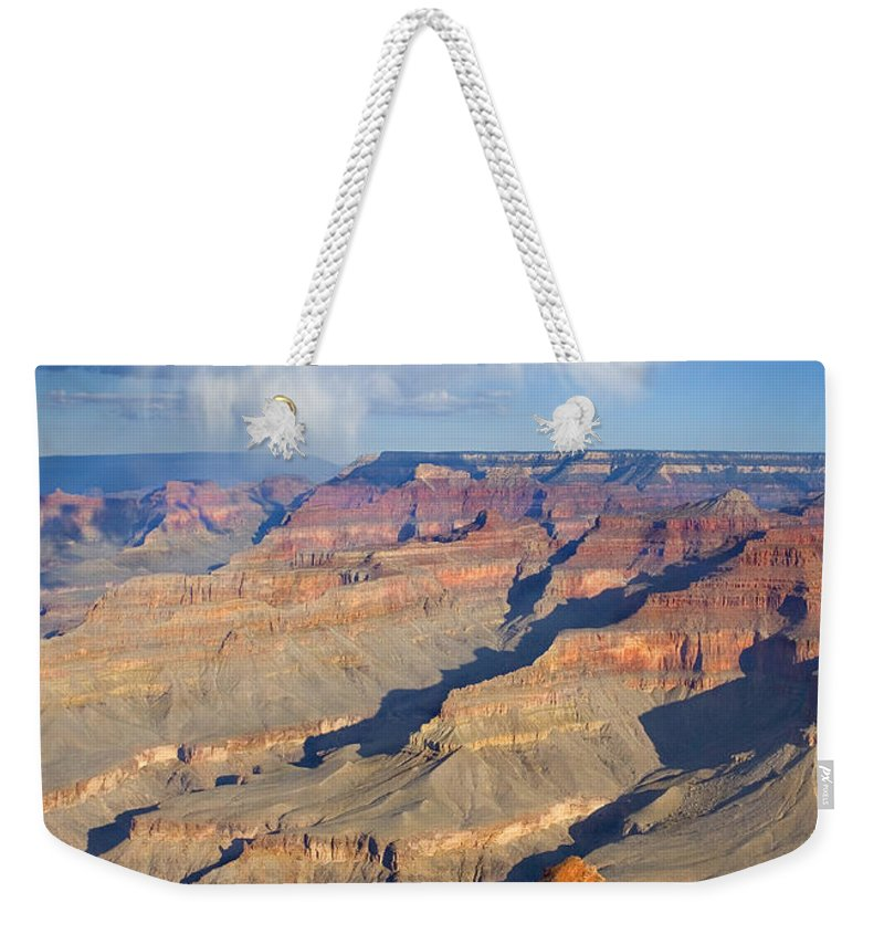 Grand Canyon Weekender Tote Bag featuring the photograph Red Storm Rising by Mike Dawson