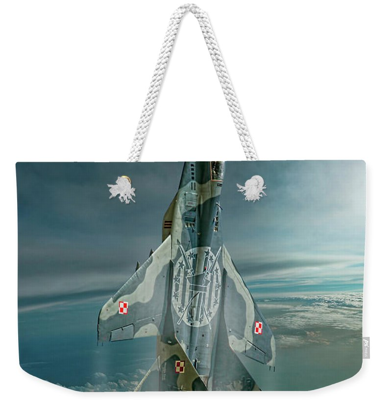 Aviation Weekender Tote Bag featuring the digital art Special Mig by Peter Scheelen