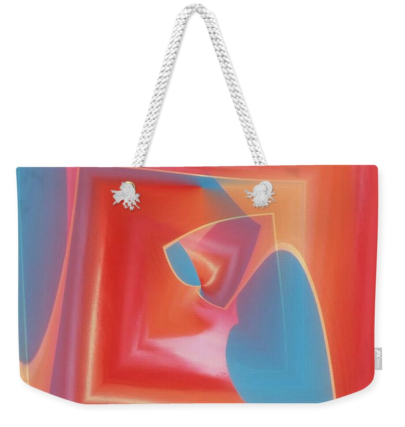 Tubes Weekender Tote Bag featuring the photograph Red Tubes 3 by Tim Allen