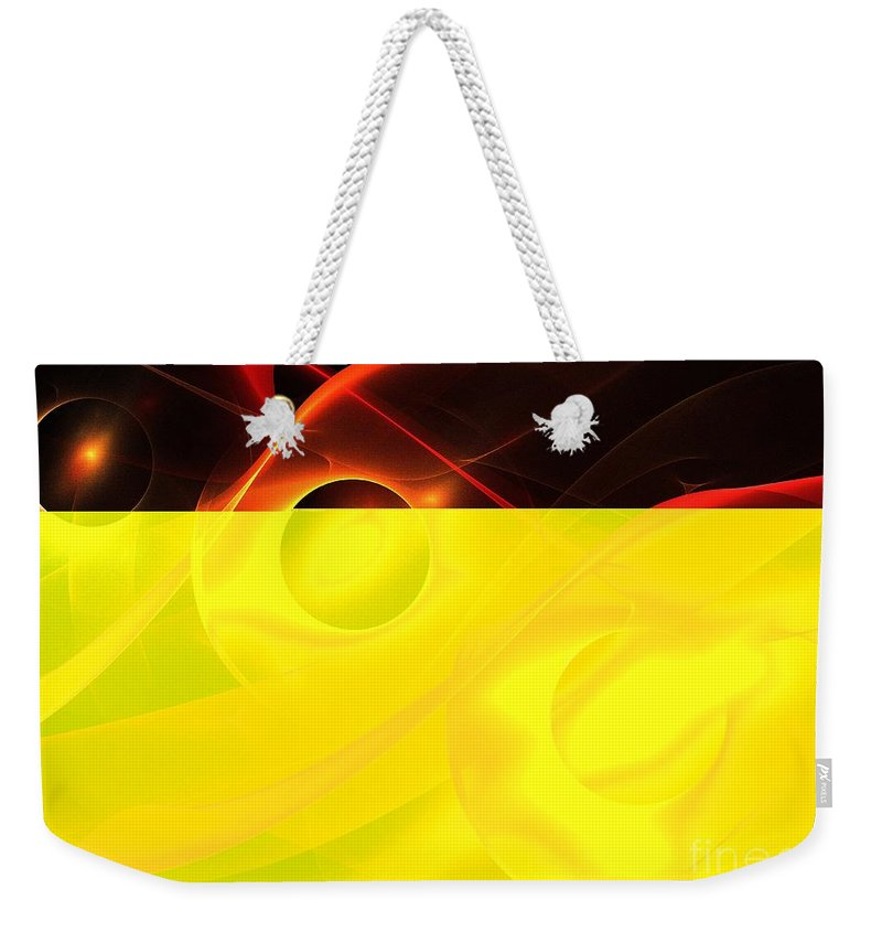 Apophysis Weekender Tote Bag featuring the digital art Red Vesuvius by Kim Sy Ok