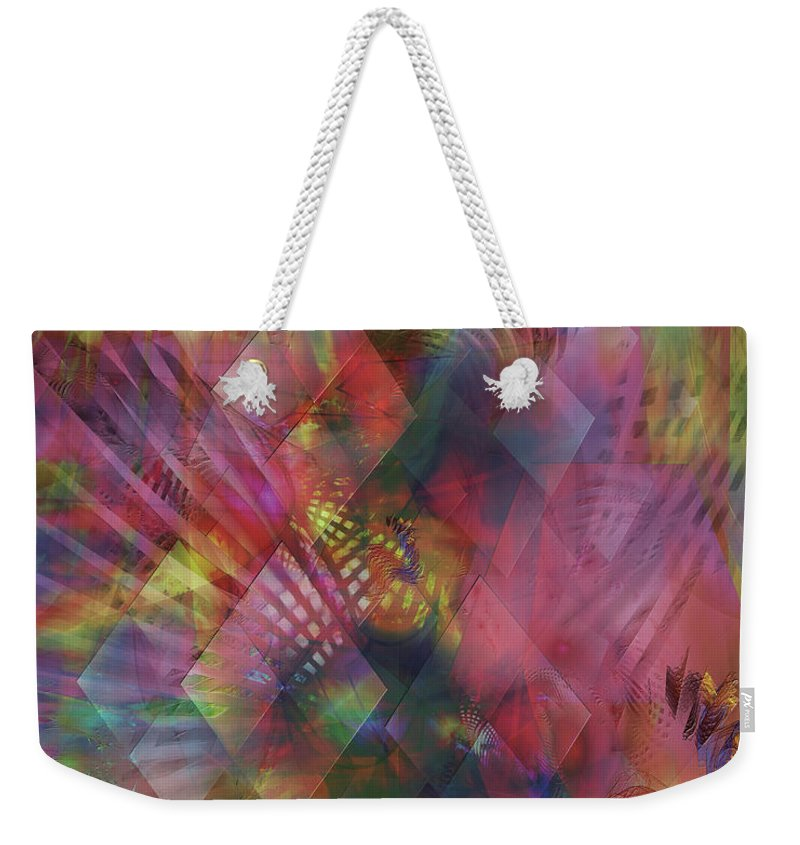 Redazzled Weekender Tote Bag featuring the digital art Redazzled by John Beck