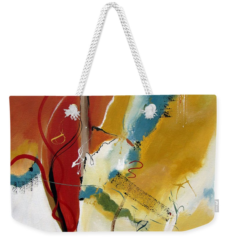 Christian Abstract Weekender Tote Bag featuring the painting Redemption by Ruth Palmer