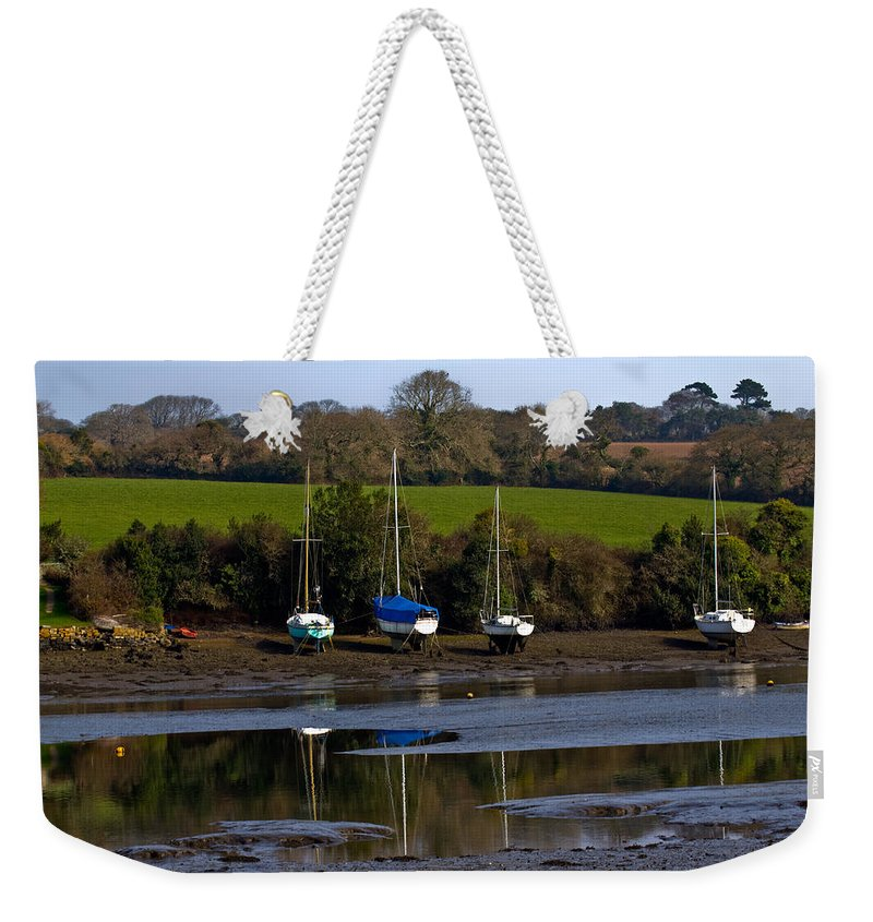 Mylor Creek Weekender Tote Bag featuring the photograph Redgate Mylor by Brian Roscorla
