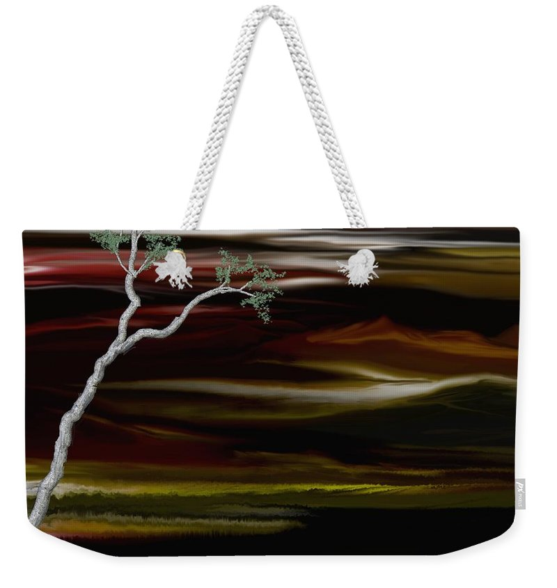 Digital Landscape Weekender Tote Bag featuring the digital art Redscape by David Lane